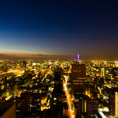 Johannesburg central business district from 220m above